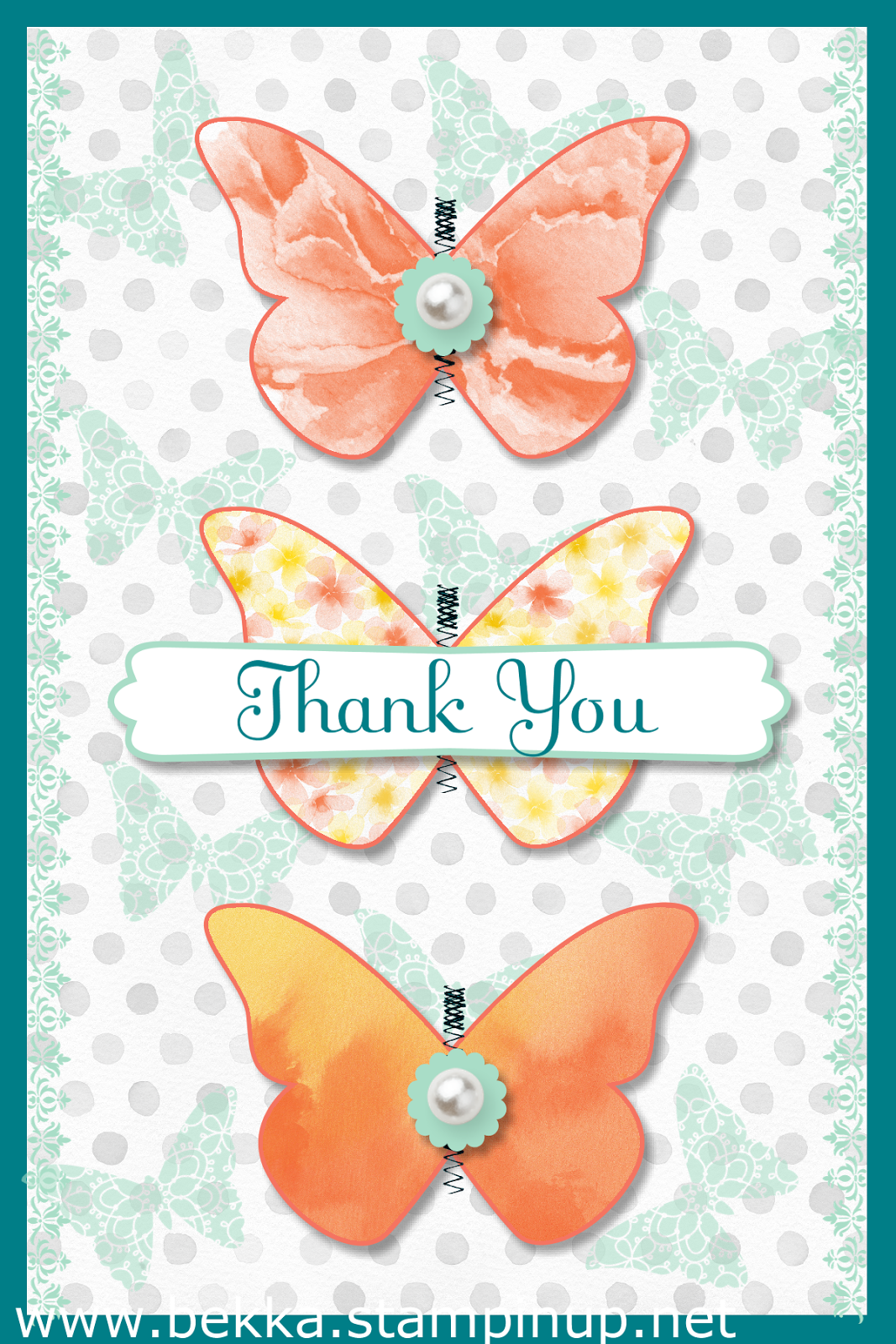 Happy Watercolour DIgital Butterfly Card by Stampin' Up! UK Independent Demonstrator Bekka - check her blog for Digital Crafting ideas every Monday