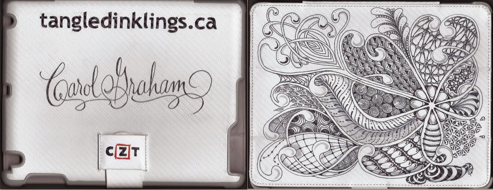 tangledinklings.ca, Carol Graham CZT12, Tangled Inklings
