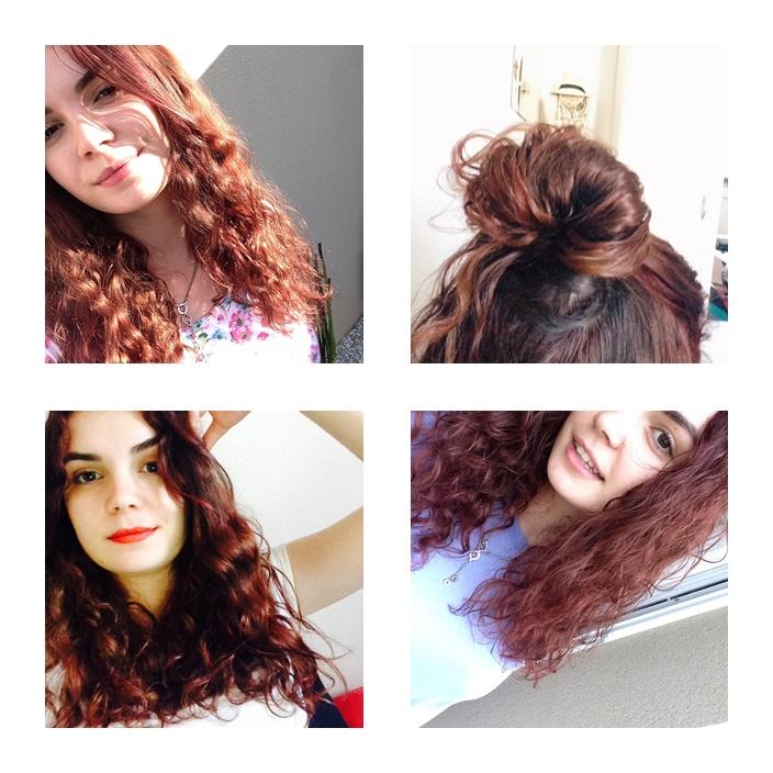 Couleur de cheveux rouge carmin
