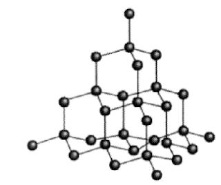 Struktur kovalen intan Sumber: Kimia Dasar Konsepkonsep Inti