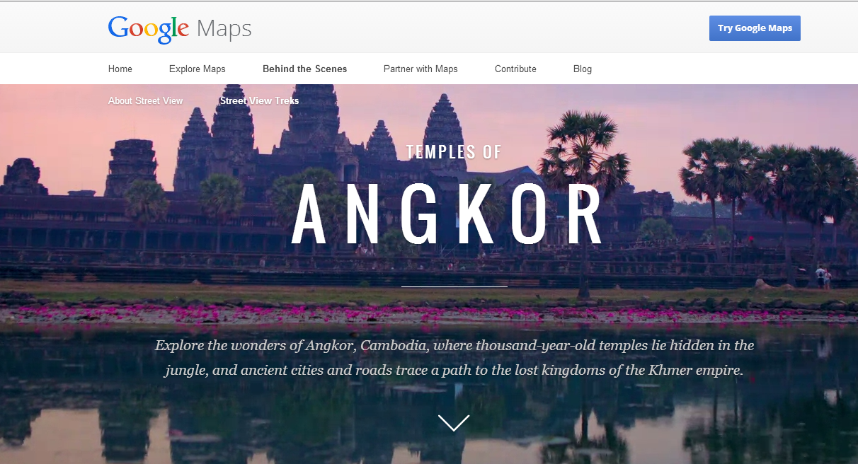 Cambodia's Angkor Wat on Google Street View