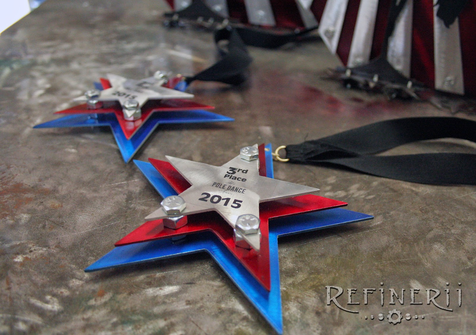 custom medals made for Miss Pole Dance America 2015 by refinerii.net