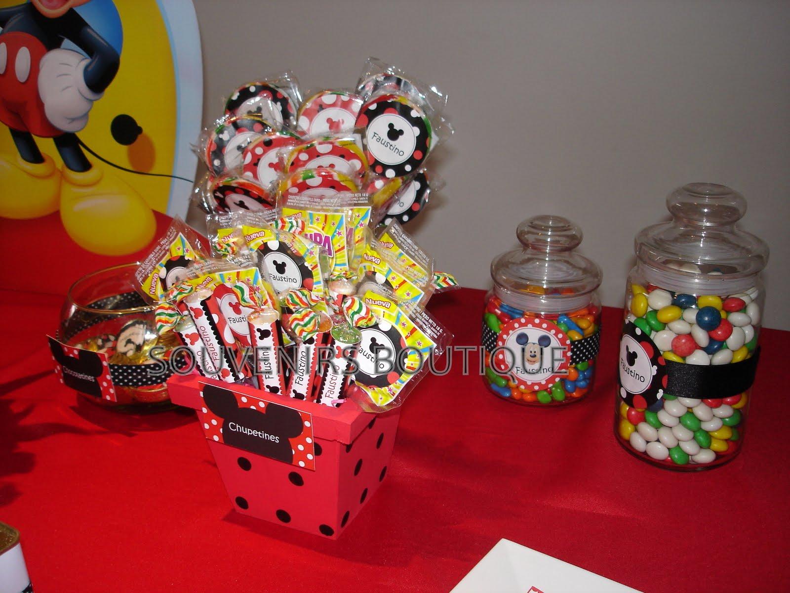 Souvenirs Boutique: Festejo tematico de Mickey Mouse para Faustino!!