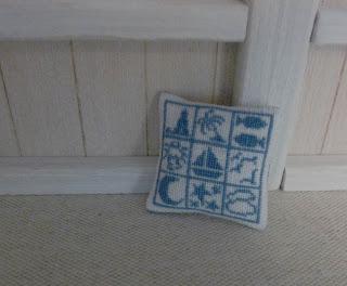 Coussin,Broderie,Miniature,Boutique de l'Océan