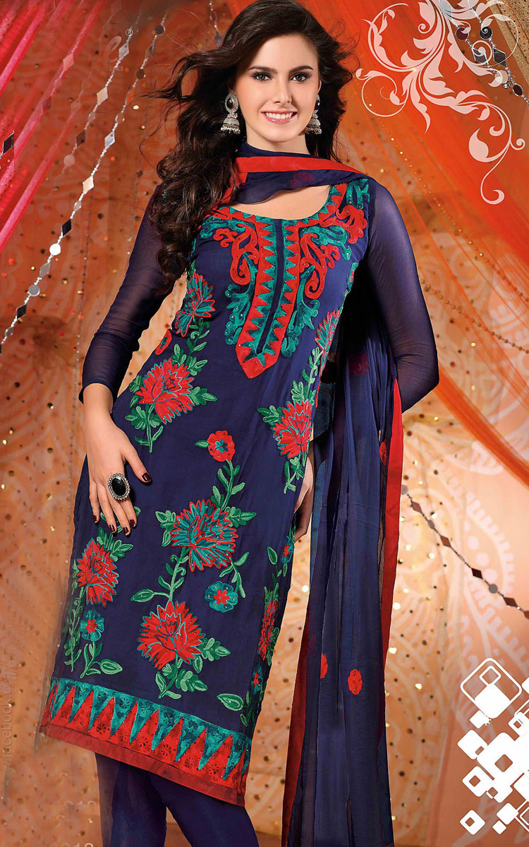 Unique  Amp Styles Latest Indian Fashion Womens Casual Wear Salwar Kameez
