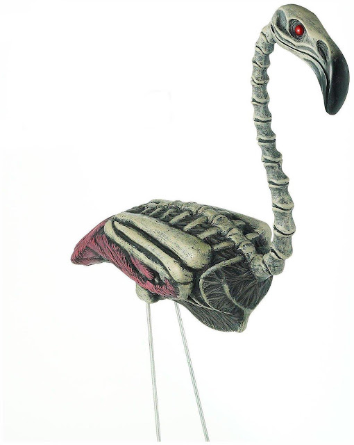 Zombie flamingo Halloween decoration