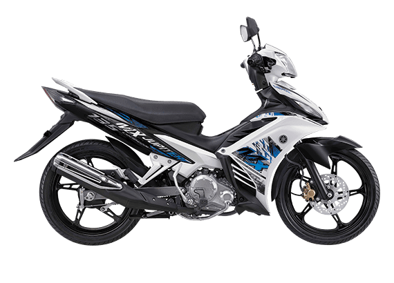 Yamaha New Jupiter MX Putih Hitam Biru