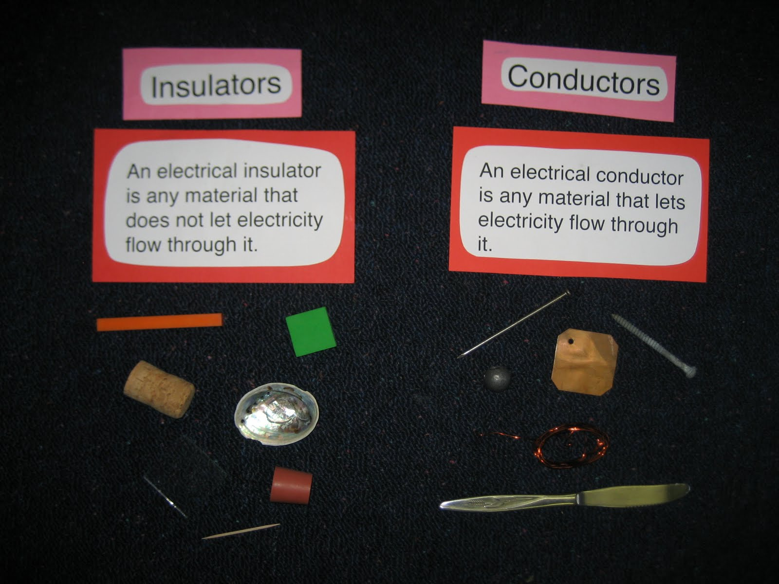 what are conductors Discover what conductors and insulators are through hands on play we  discovered the difference between electrical conductors and insulators during  our.