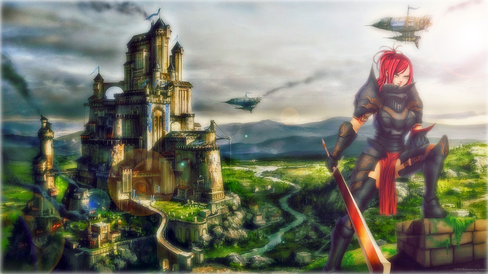 Fairy Tail - Knight & Castle Wallpaper
