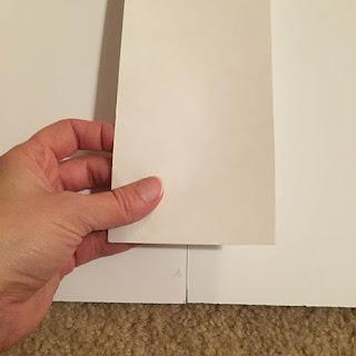 Gluing white poster board to white foam core board
