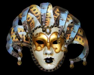 Máscara Carnaval PNG - Arlequim veneziano