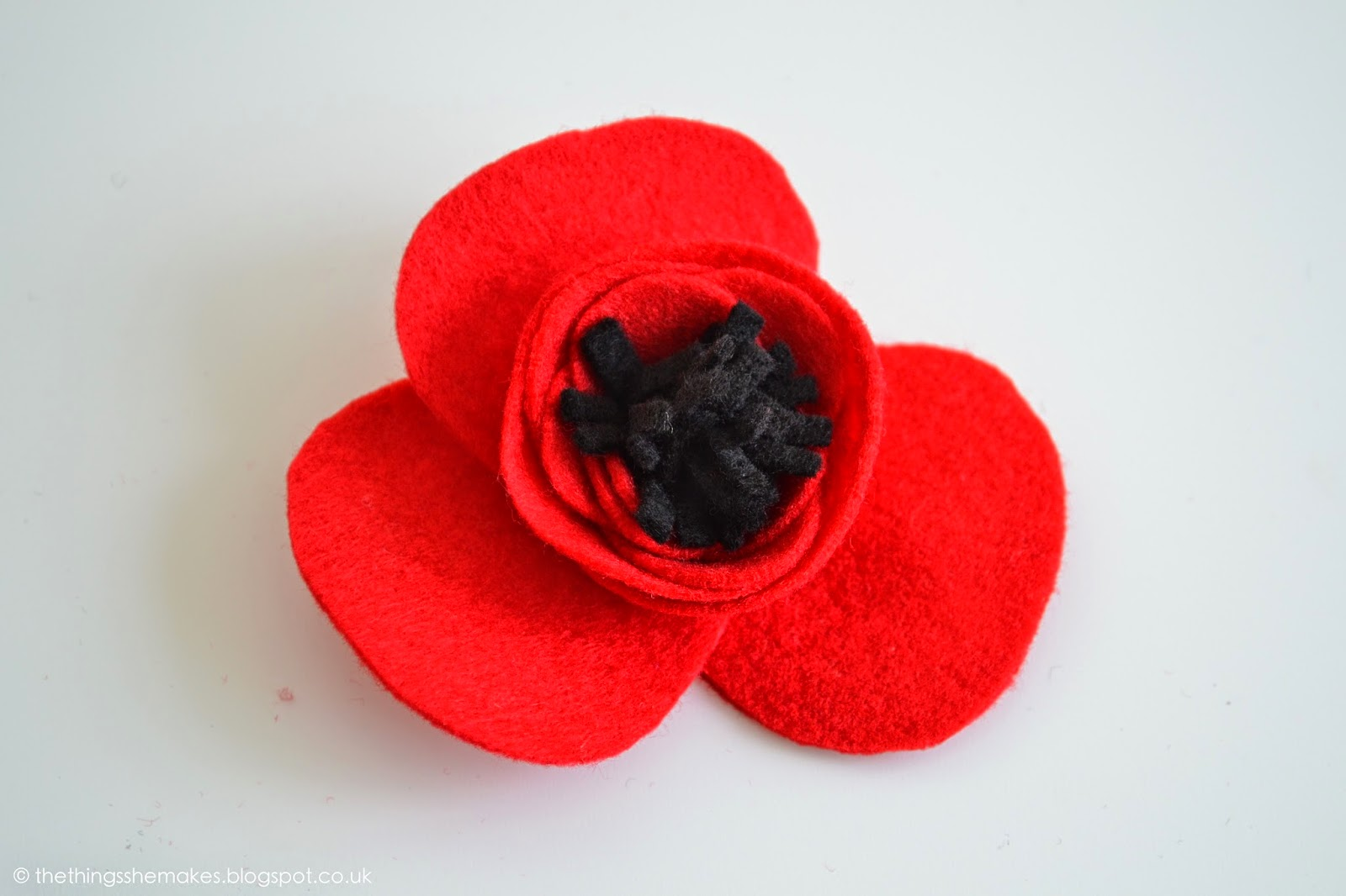 how to make felt flowers poppies the things she makes