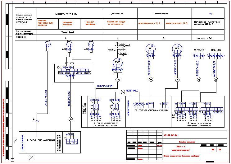 Схема соединений внешних