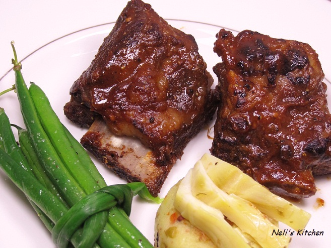BBQ Beef Rib with Potato Cake