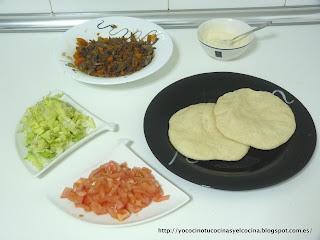 ingredientes para el kebab casero con ternera estofada