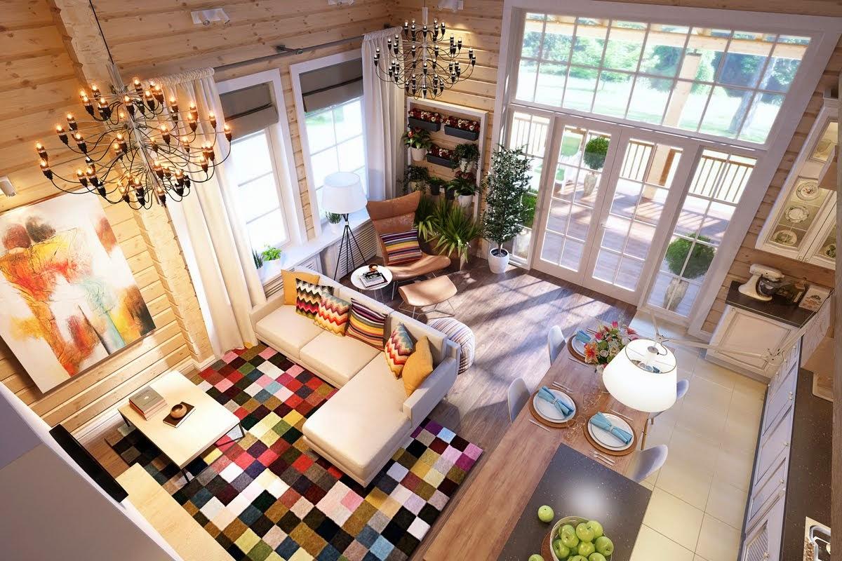 Дизайн и виз дома из клееного бруса