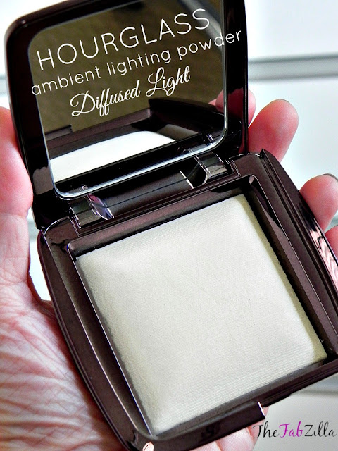 review Hourglass Ambient Lighting Powder Diffused Light, swatch, Hourglass
