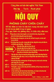 Nội quy PCCC Việt Nam vector