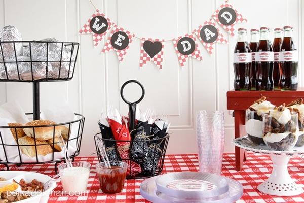 mesa de dia dos pais