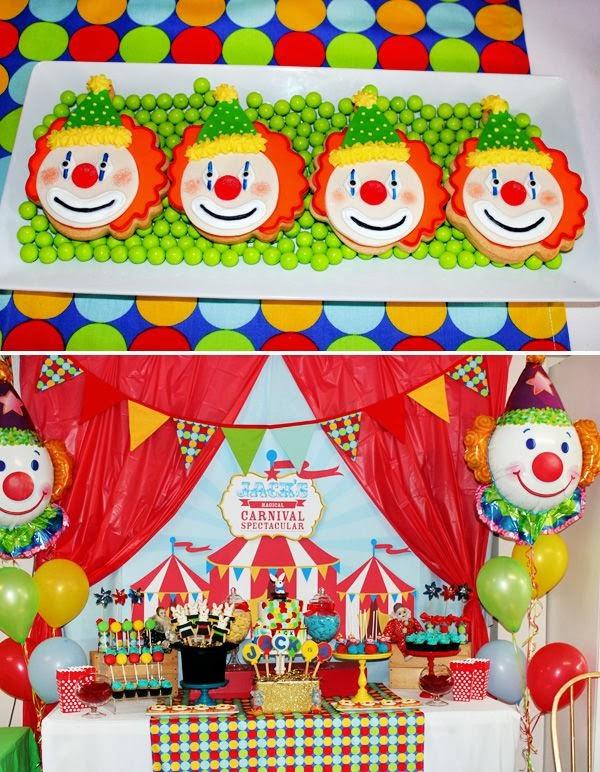 tema festa menino infantil aniversário palhaços