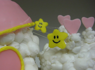 Care Bear Cloud Castle Cake - Close-Up of Stars & Cloud Texture 2