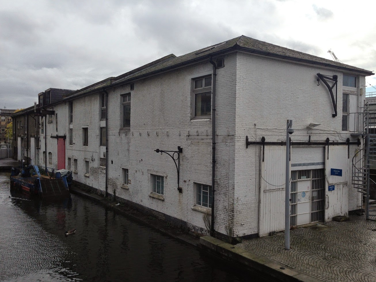 Old canal side buildings, Paddington Basin, London