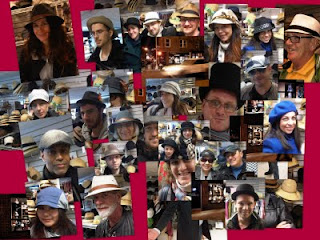 Hat House NY customers including fedoras and caps