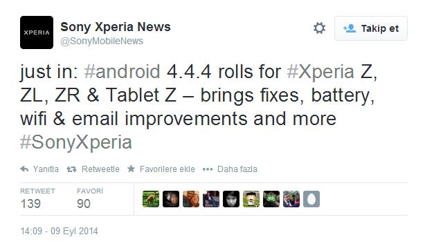 Xperia Z, Android güncellemesi