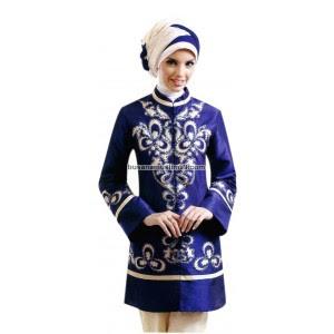 model baju pesta, gaun batik untuk pesta, baju pesta muslim modern