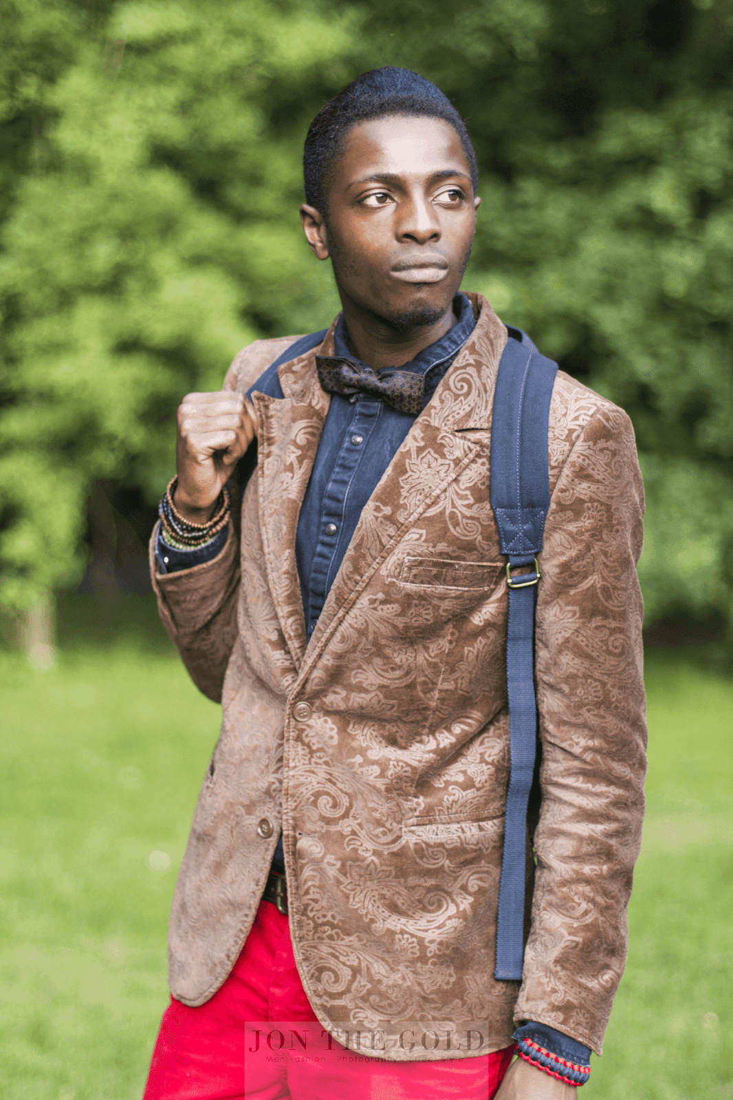 How 2 Wear: H&M Brown Blazer w/ Red Chinos