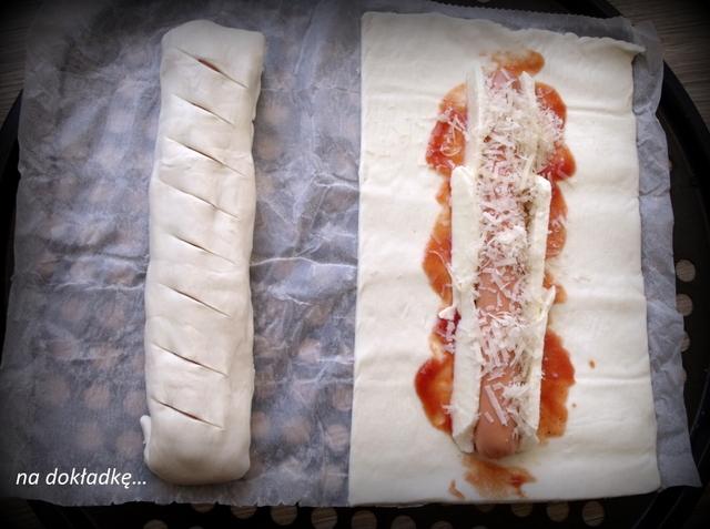 ciasto francuskie przepis parówki