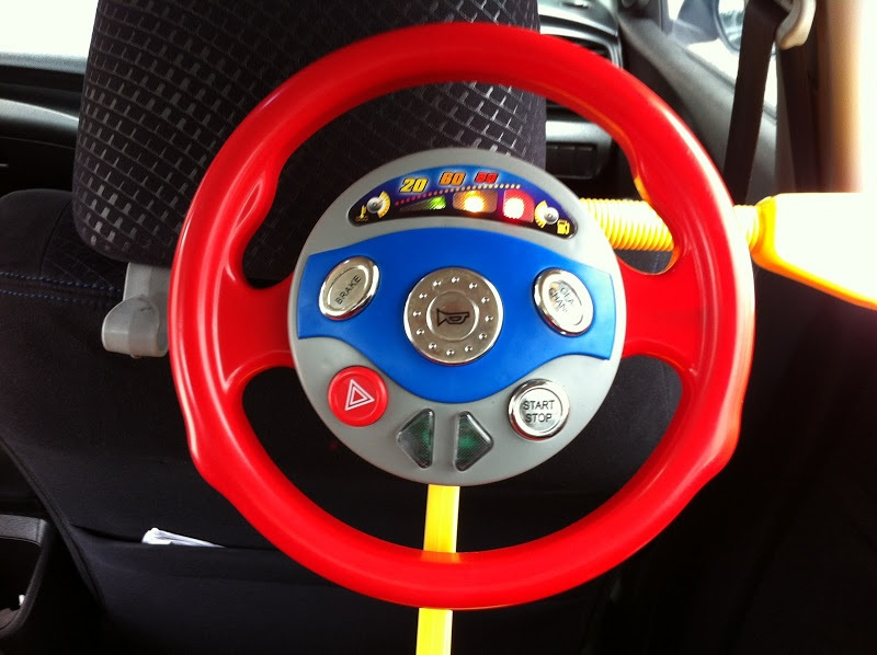 Car Seat Toy Steering Wheel : Bongbongidea electronic backseat driver steering wheel toy