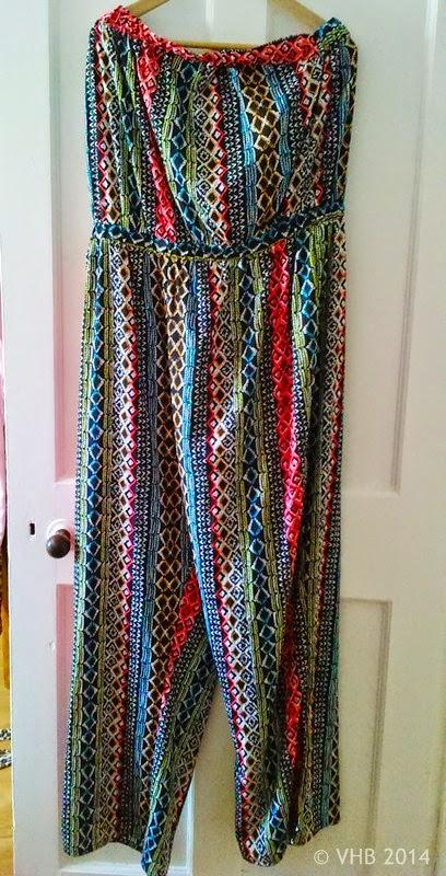 Strapless Aztec Jumpsuit - Size 24 - New Look