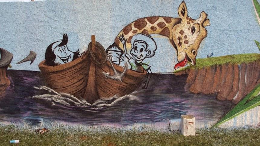 Graffiti arca barco