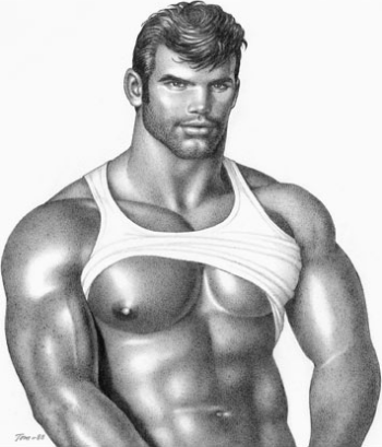 from Gary gay male castro clone sculpture