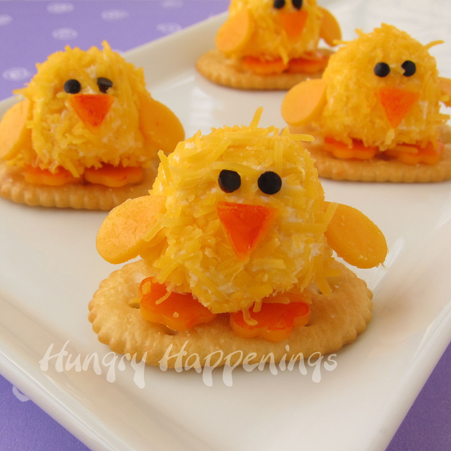 easter appetizers - baby chick cheese balls are so cute!