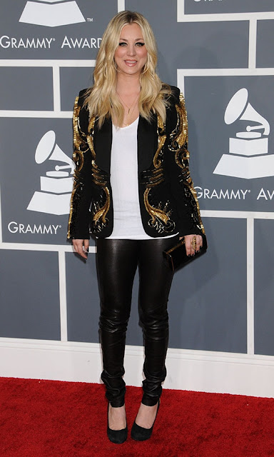 Kaley Cuoco Grammys 2013 outfit