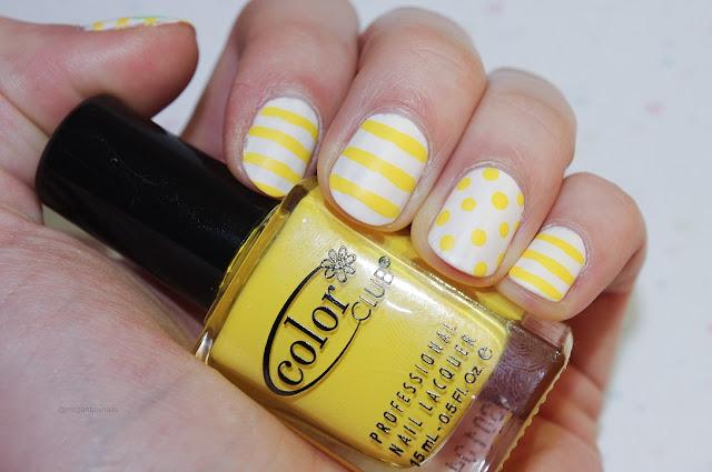 yellow matte nail art image
