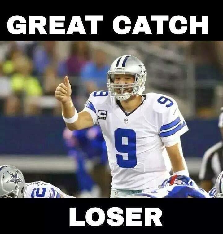 Great catch Loser. #tonyromo #cowboys #giantshaters #DALvsNYG2014 #DALvsNYG #BeckhamJr