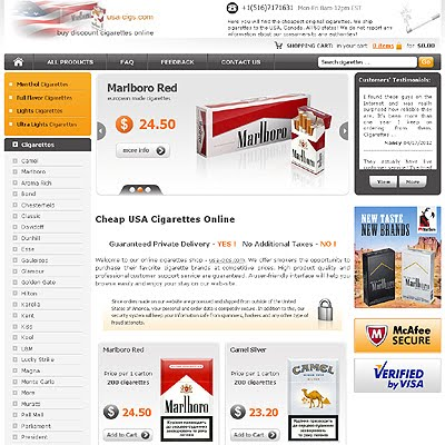 Lightest California cigarettes