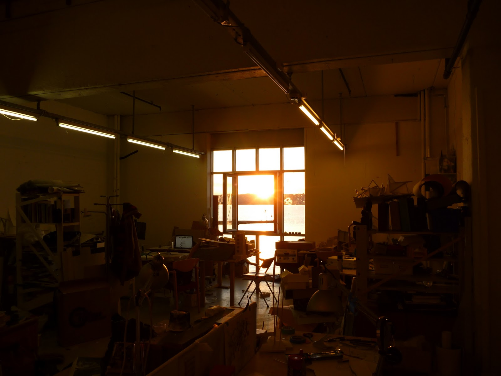 SUNSET IN AN EMPTY CLASSROOM