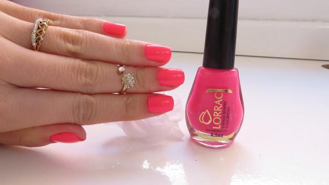 Esmalte da semana cor Rosa Fluorescente da Lorrac