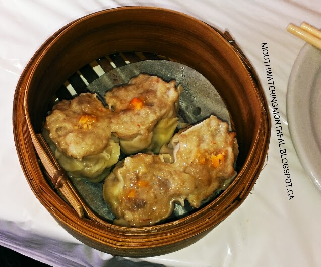 Siu mai (pork and shrimp dumplings)