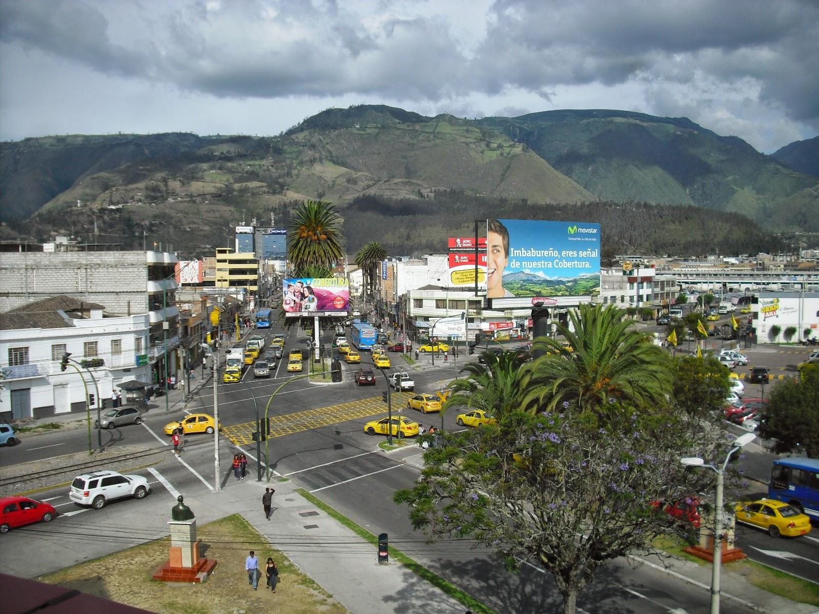 The picturesque Ibarra, Ecuador.