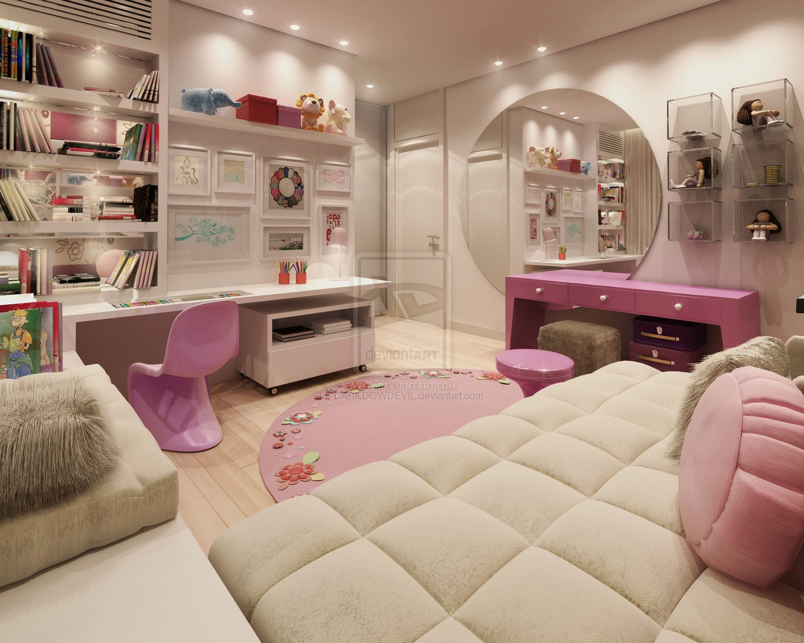 Girls Bedroom Design Beautiful