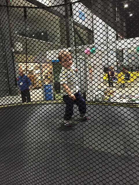 child on a Springfree trampoline