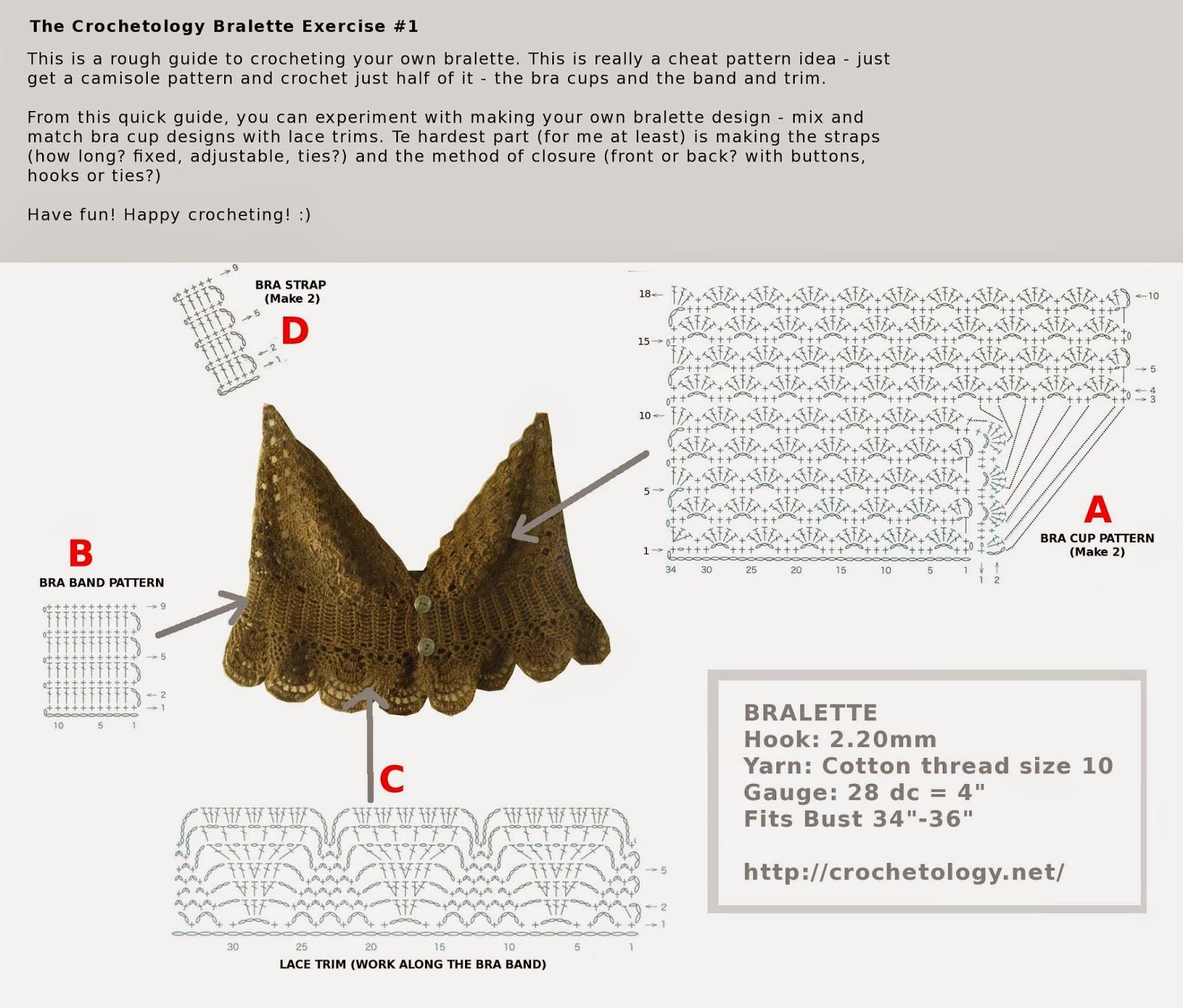 Crochetology By Fatima Crocheted Bralette No 1