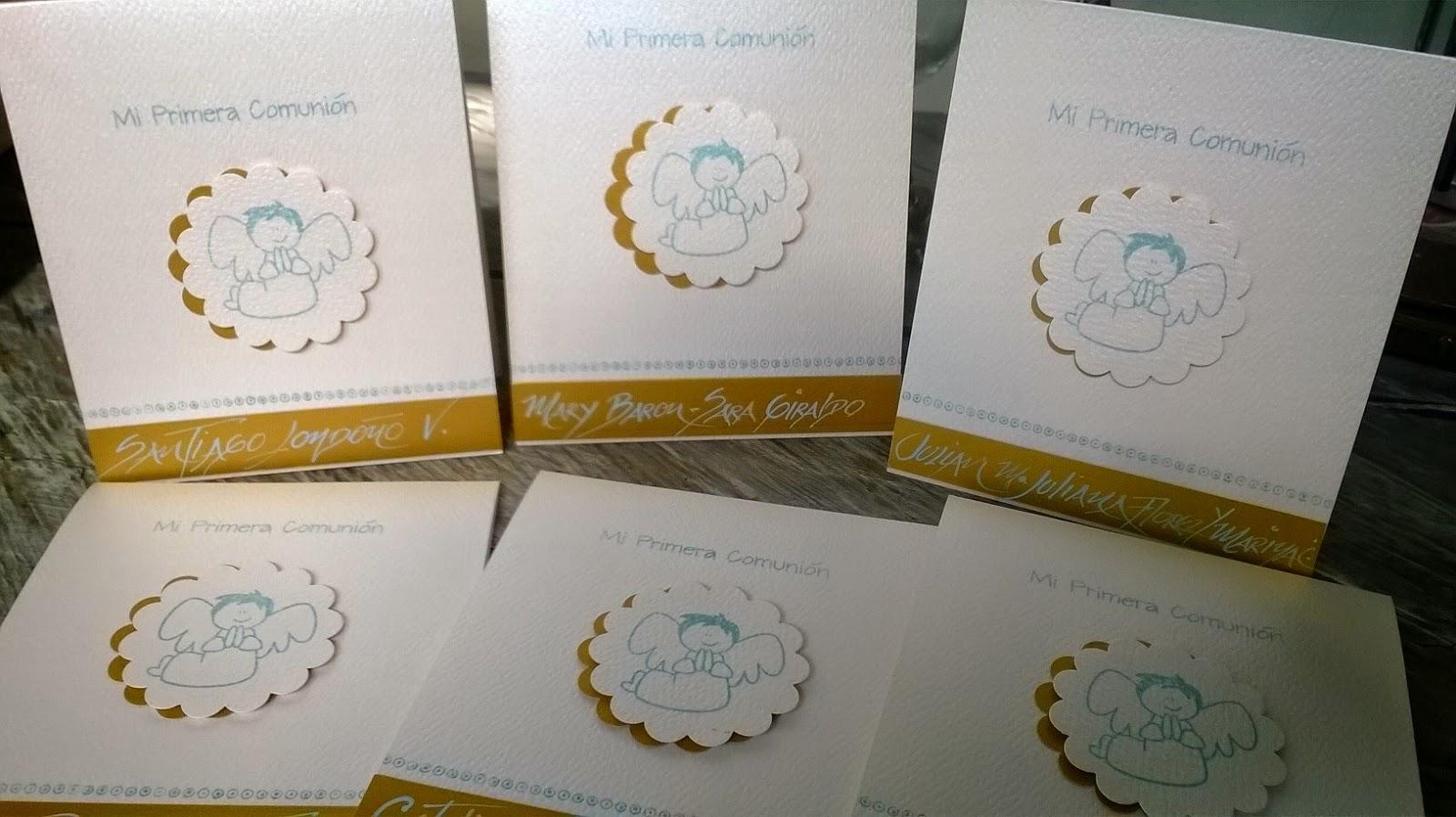 invitaciones de primera comunion hechas a mano