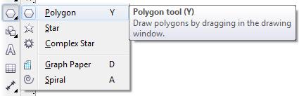 Mengenal bagian CorelDRAW - Polygon Tool