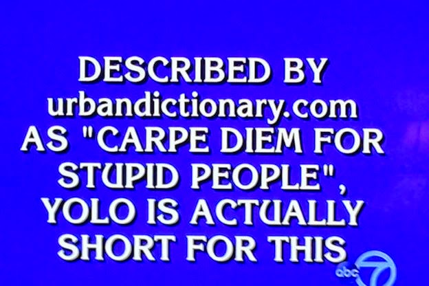 YOLO - Jeopardy!